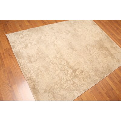 Weyand One-of-a-Kind Contemporary Oriental Hand-Knotted Wool Tan Area Rug