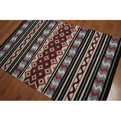 Quayle One-of-a-Kind Dhurry Kilim Reversible Oriental Hand-Woven Wool Red Area Rug