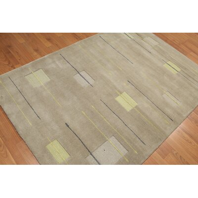 Buldauskas One-of-a-Kind Modern Oriental Hand-Knotted Wool Gray Area Rug