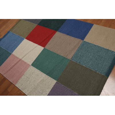 Boudrow One-of-a-Kind Reversible Modern Oriental Hand-Knotted Wool Red Area Rug