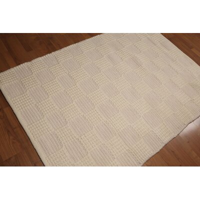 Bensman One-of-a-Kind Pile Modern Oriental Hand-Knotted Wool Beige Area Rug