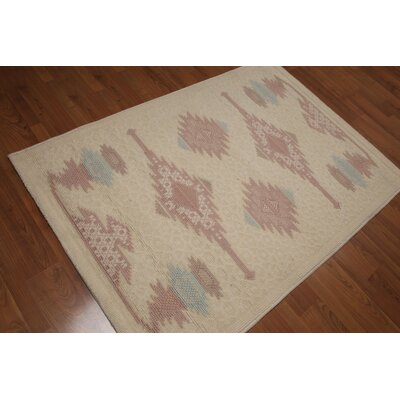 Phair One-of-a-Kind Pile Modern Modern Oriental Hand-Knotted Wool Beige Area Rug