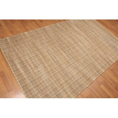 Solem One-of-a-Kind Modern Oriental Hand-Knotted Tan Area Rug