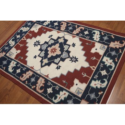 Gustel One-of-a-Kind Persian Traditional Oriental Hand-Knotted Wool Ivory Area Rug