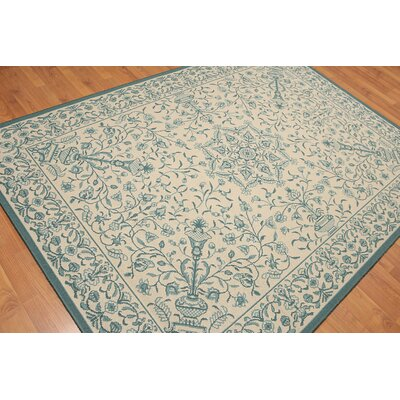 Hightower Transitional Oriental Wool Beige Area Rug