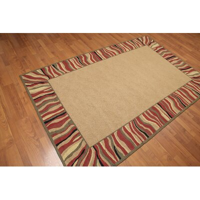 Ferneding One-of-a-Kind Contemporary Oriental Hand-Knotted Wool Tan Area Rug