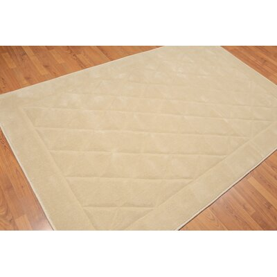 Matina One-of-a-Kind Modern Oriental Hand-Knotted Wool Beige Area Rug