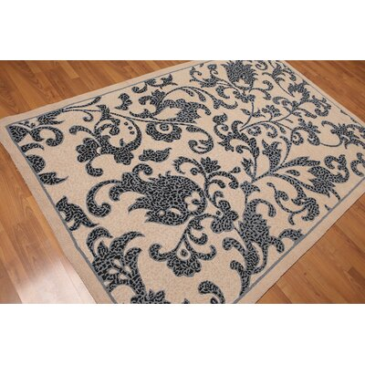 Soldano One-of-a-Kind Transitional Oriental Hand-Knotted Wool Beige Area Rug
