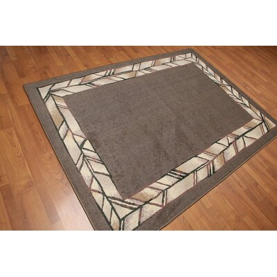 Rauschke Pile Modern Oriental Taupe Area Rug
