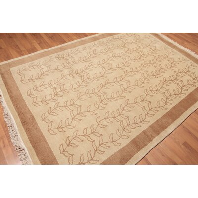 Dandrea One-of-a-Kind Transitional Oriental Hand-Knotted Wool Beige Area Rug