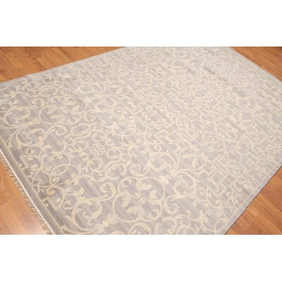 Hassler One-of-a-Kind Transitional Oriental Hand-Knotted Wool Warm Gray Area Rug