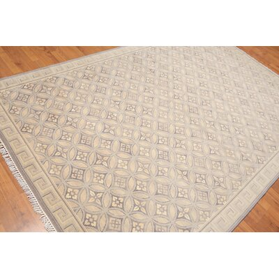 Hathaway One-of-a-Kind Traditional Oriental Hand-Knotted Wool Warm Gray Area Rug