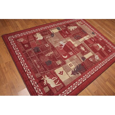 Watanabe Pile Modern Oriental Red Area Rug