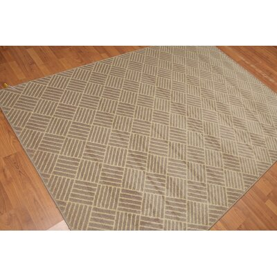Stopa Pile Modern Oriental Taupe Area Rug