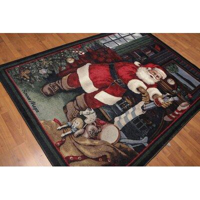 Franz Pile Modern Oriental Black Area Rug
