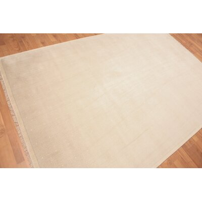 Probst One-of-a-Kind Modern Oriental Hand-Knotted Wool Beige Area Rug