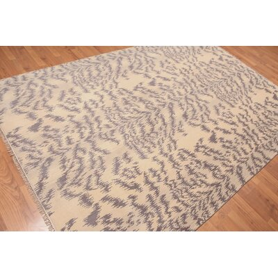 Prochaska One-of-a-Kind Modern Oriental Hand-Knotted Wool Beige Area Rug