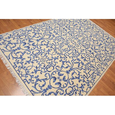 Harrell One-of-a-Kind Traditional Oriental Hand-Knotted Wool Ivory Area Rug