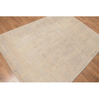 McCarney One-of-a-Kind Contemporary Oriental Hand-Knotted Wool Gray Area Rug