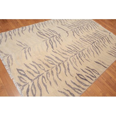 Proctor One-of-a-Kind Contemporary Oriental Hand-Knotted Wool Beige Area Rug