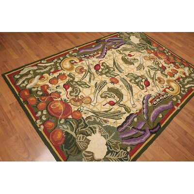 Hulton One-of-a-Kind Transitional Oriental Hand-Knotted Wool Warm Beige Area Rug