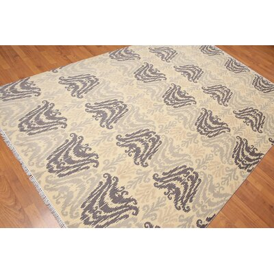 Hatton One-of-a-Kind Transitional Oriental Hand-Knotted Wool Beige Area Rug