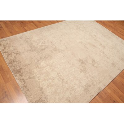 Prokop One-of-a-Kind Modern Oriental Hand-Knotted Wool Tan Area Rug