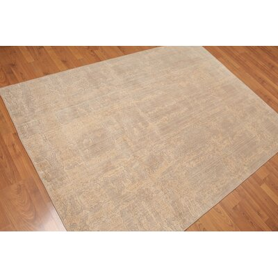Yorke One-of-a-Kind Modern Oriental Hand-Knotted Wool Tan Area Rug