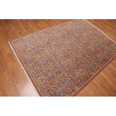 Pritchett One-of-a-Kind Modern Oriental Hand-Knotted Wool Rust Area Rug