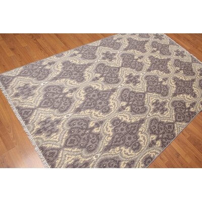 Zaragosa One-of-a-Kind Transitional Oriental Hand-Knotted Wool Gray Area Rug