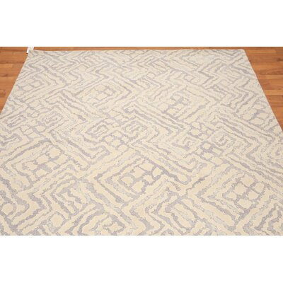Propes One-of-a-Kind Modern Oriental Hand-Knotted Wool Beige Area Rug