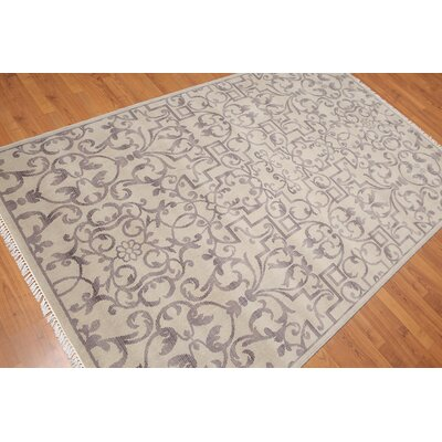Zindanlari One-of-a-Kind Transitional Oriental Hand-Knotted Wool Light Gray Area Rug
