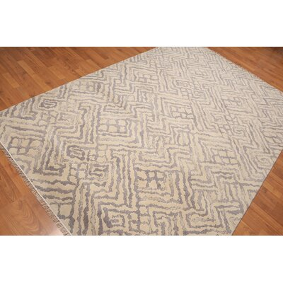 Prudhomme One-of-a-Kind Modern Oriental Hand-Knotted Wool Beige Area Rug