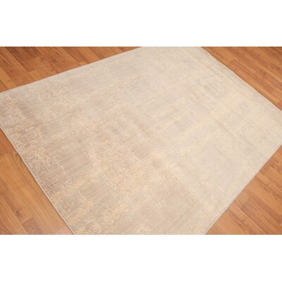 Harlesden One-of-a-Kind Modern Oriental Hand-Knotted Wool Tan Area Rug