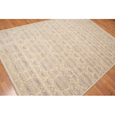 Pruett One-of-a-Kind Transitional Oriental Hand-Knotted Wool Beige Area Rug