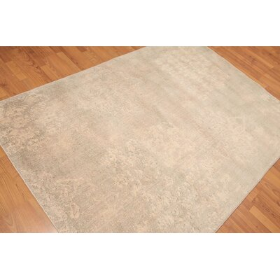 Harlow One-of-a-Kind Modern Oriental Hand-Knotted Wool Beige Area Rug
