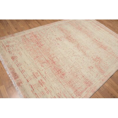 Prospect Heights One-of-a-Kind Contemporary Oriental Hand-Knotted Wool Aqua Area Rug