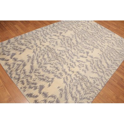 Provencher One-of-a-Kind Modern Oriental Hand-Knotted Wool Beige Area Rug