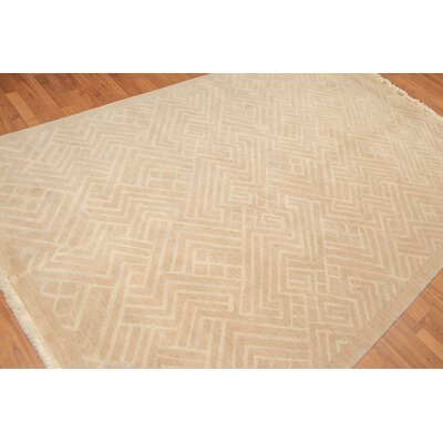 Provost One-of-a-Kind Modern Oriental Hand-Knotted Wool Tan Area Rug
