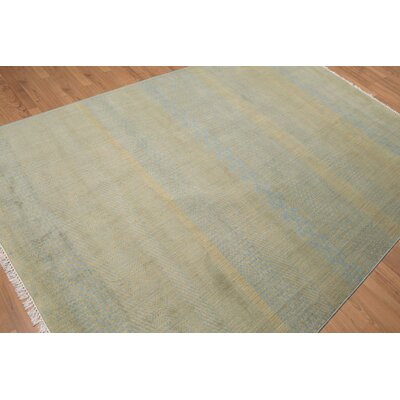 Puentes One-of-a-Kind Contemporary Oriental Hand-Knotted Wool Blue Area Rug
