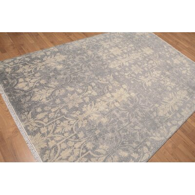 Hayes One-of-a-Kind Transitional Oriental Hand-Knotted Wool Gray Area Rug