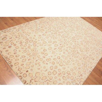 Pulliam Modern Oriental Wool Aqua Area Rug