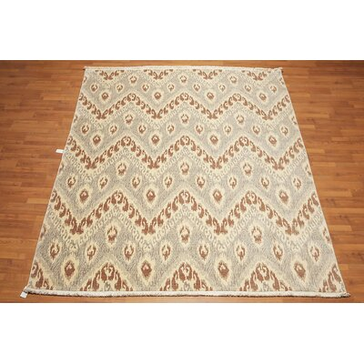 Hetherton One-of-a-Kind Modern Oriental Hand-Knotted Wool Beige Area Rug
