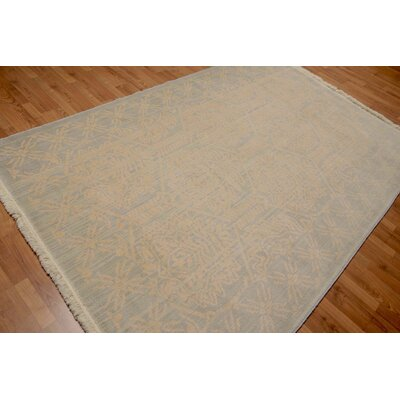 Pullins One-of-a-Kind Transitional Oriental Hand-Knotted Wool Gray Area Rug