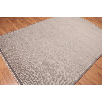 Doynton One-of-a-Kind Modern Oriental Hand-Knotted Wool Gray Area Rug