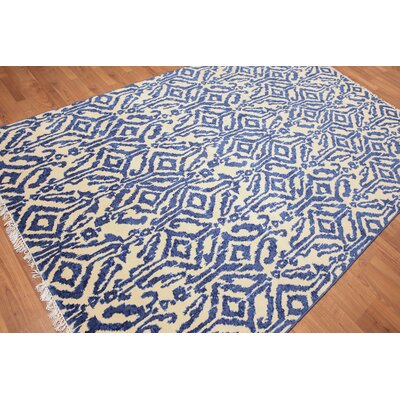 Heatherstone One-of-a-Kind Modern Oriental Hand-Knotted Wool Ivory Area Rug