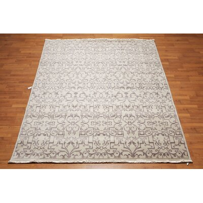 Queanbeyan One-of-a-Kind Traditional Oriental Hand-Knotted Wool Light Gray Area Rug