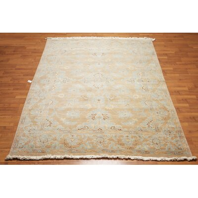 Queens Boulevard One-of-a-Kind Transitional Oriental Hand-Knotted Wool Turquoise Area Rug