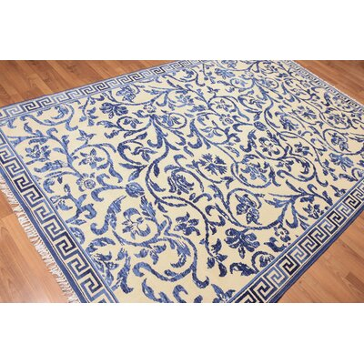 Hedgerley One-of-a-Kind Traditional Oriental Hand-Knotted Wool Ivory Area Rug