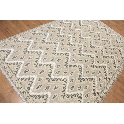 Hillam One-of-a-Kind Contemporary Oriental Hand-Knotted Gray Area Rug